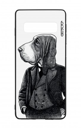 Samsung S10 WHT Two-Component Cover - Dog in waistcoat