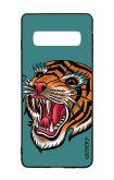 Cover Bicomponente Samsung S10 - Tigre Tattoo su ottanio