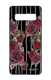 Samsung S10 WHT Two-Component Cover - Roses and Tigers Tattoo