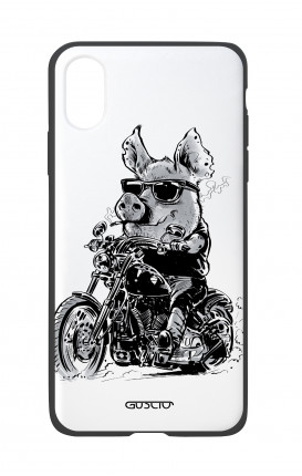 Apple iPhone XR Two-Component Cover - Biker Pig