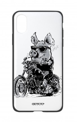 Cover Bicomponente Apple iPhone XR - Maiale biker
