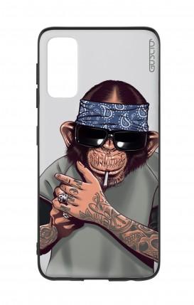 Cover Bicomponente Samsung S20 - Scimpanze con bandana