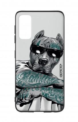 Cover Bicomponente Samsung S20 - Pitbull tatuato