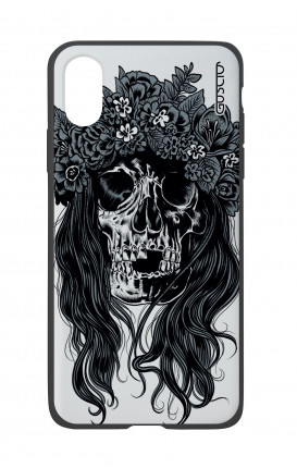 Apple iPh XS MAX WHT Two-Component Cover - Skull with flowers