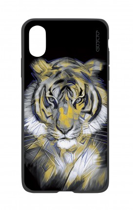 Apple iPh XS MAX WHT Two-Component Cover - Neon Tiger