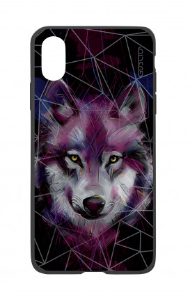 Apple iPh XS MAX WHT Two-Component Cover - Neon Wolf