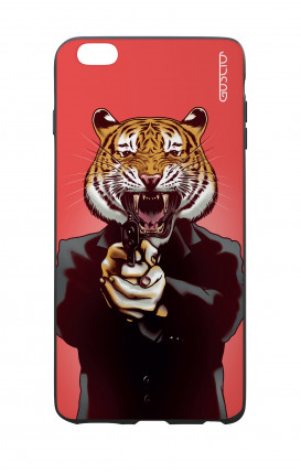 Apple iPhone 6 WHT Two-Component Cover - Tiger with Gun