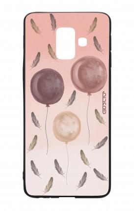Cover Bicomponente Samsung A6 Plus WHT - 3 Palloncini rosa