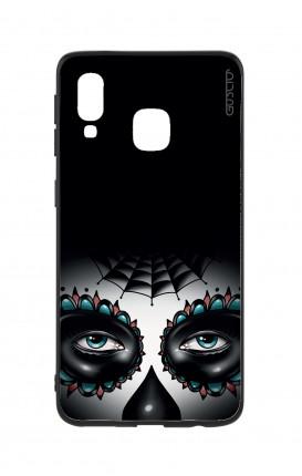 Cover Bicomponente Samsung A40 - Calavera occhi