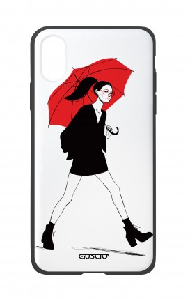 Apple iPh XS MAX WHT Two-Component Cover - Red Umbrella