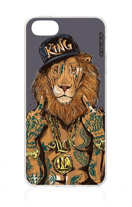 Cover Apple iPhone 5/5s/SE - Lion King grigio