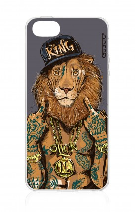 Cover Apple iPhone 5/5s/SE - Lion King grigio