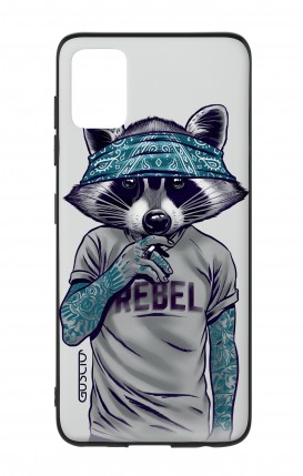 Samsung A51 Two-Component Cover - Raccoon with bandana