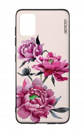 Cover Bicomponente Samsung A51 - Peonie rosa
