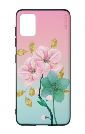 Samsung A51 Two-Component Cover - Pink Flowers