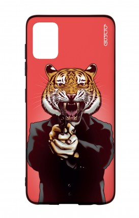 Samsung A51 Two-Component Cover - Tiger with Gun