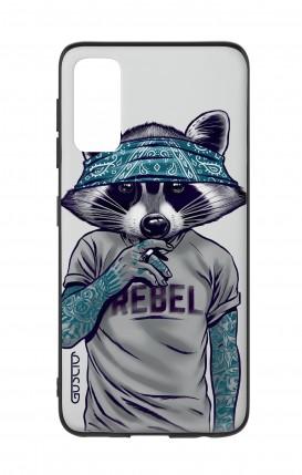 Cover Samsung S20 - Raccoon with bandana