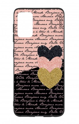 Samsung S20Plus Two-Component Cover - Hearts on words