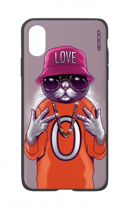 Apple iPh XS MAX WHT Two-Component Cover - Cat Love