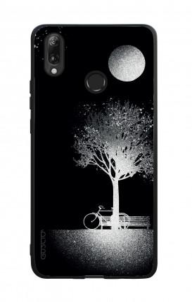 Cover Bicomponente Huawei P30Lite - Scritte e cuori bianco e nero