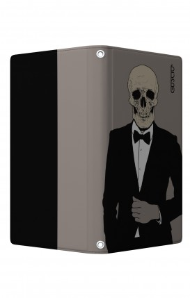 "UNV BOOK Case M/L 5.0-5.2"" display - Magnetic - Tuxedo Skull"