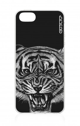 Cover Apple iPhone 5/5s/SE - Black Tiger