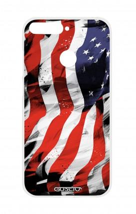 Cover HUAWEI P SMART - Bandiera americana