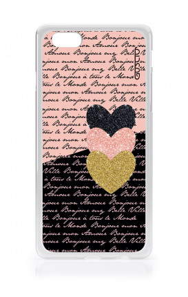 Cover TPU Apple iPhone 6/6s - Scritte e Cuori rosa nero