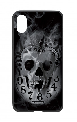 Apple iPhone X White Two-Component Cover - Skull & Clock