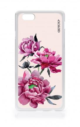 Cover TPU Apple iPhone 6/6s - Peonie rosa