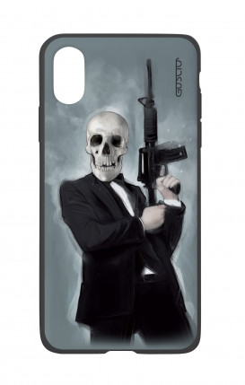 Apple iPhone X White Two-Component Cover - Skull with Tommy-Gun