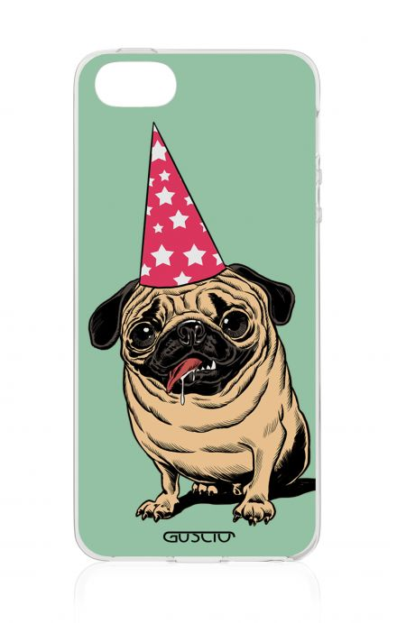 Cover Apple iPhone 5/5s/SE - Party with Pug