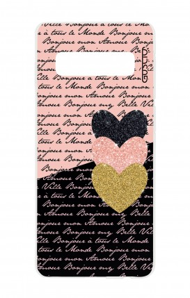 Cover Samsung S10 - Hearts on words