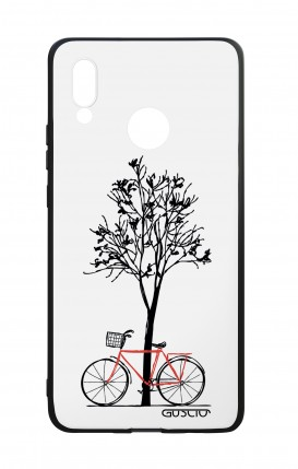 Huawei P20Lite WHT Two-Component Cover - Cycle & Tree