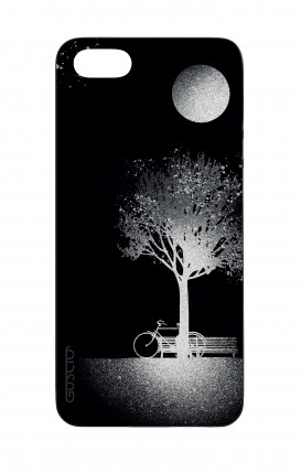 Apple iPhone 5 WHT Two-Component Cover - Moon and Tree