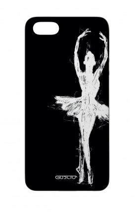 Cover Bicomponente Apple iPhone 5/5s/SE  - Ballerina su nero