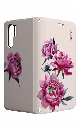 Case STAND Huawei P30 PRO - Pink Peonias
