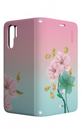 Case STAND Huawei P30 PRO - Pink Flowers