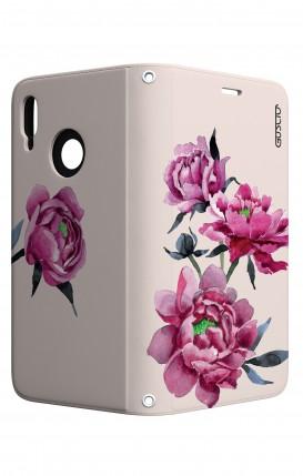 Case STAND Huawei P20 Lite - Pink Peonias