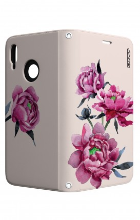 Cover STAND Huawei P20 Lite - Peonie rosa