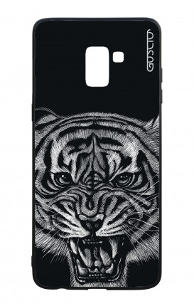 Samsung A8 2018 WHT Two-Component Cover - Black Tiger