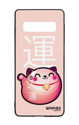 Samsung S10 WHT Two-Component Cover - Japanese Fortune cat Kawaii