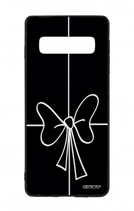 Samsung S10 WHT Two-Component Cover - Bow Outline