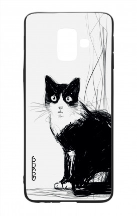 Samsung A6 Plus WHT Two-Component Cover - B&W CAT