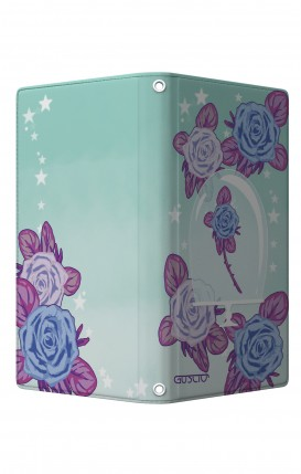 """Cover Universal Casebook MEDIUM/LARGE for 5.0""""-5.2"""" display - Chiusura Magnetica - Rosa incantata"""