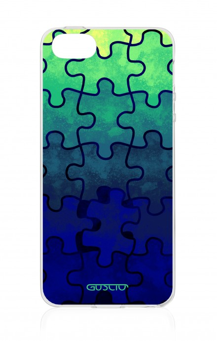 Cover Apple iPhone 5/5s/SE - Blue Puzzle