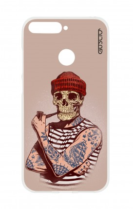 Cover HUAWEI P SMART - Skull Sailor with Red Cup