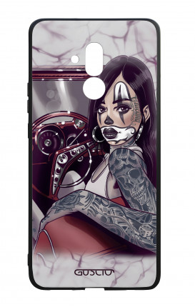 Cover Bicomponente Huawei Mate 20 Lite - Pin Up Chicana in auto