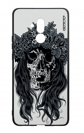 Huawei Mate20Lite WHT Two-Component Cover - Skull with flowers