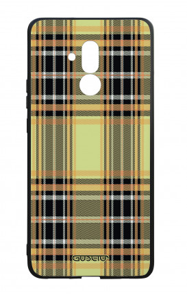 Huawei Mate20Lite WHT Two-Component Cover - Yellow tartan